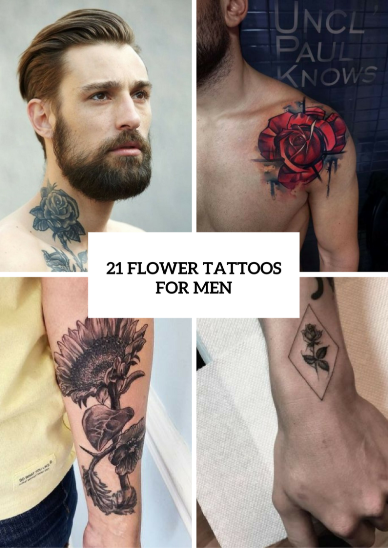 887ead756 21 Excellent Flower Tattoo Ideas For Men - Styleoholic