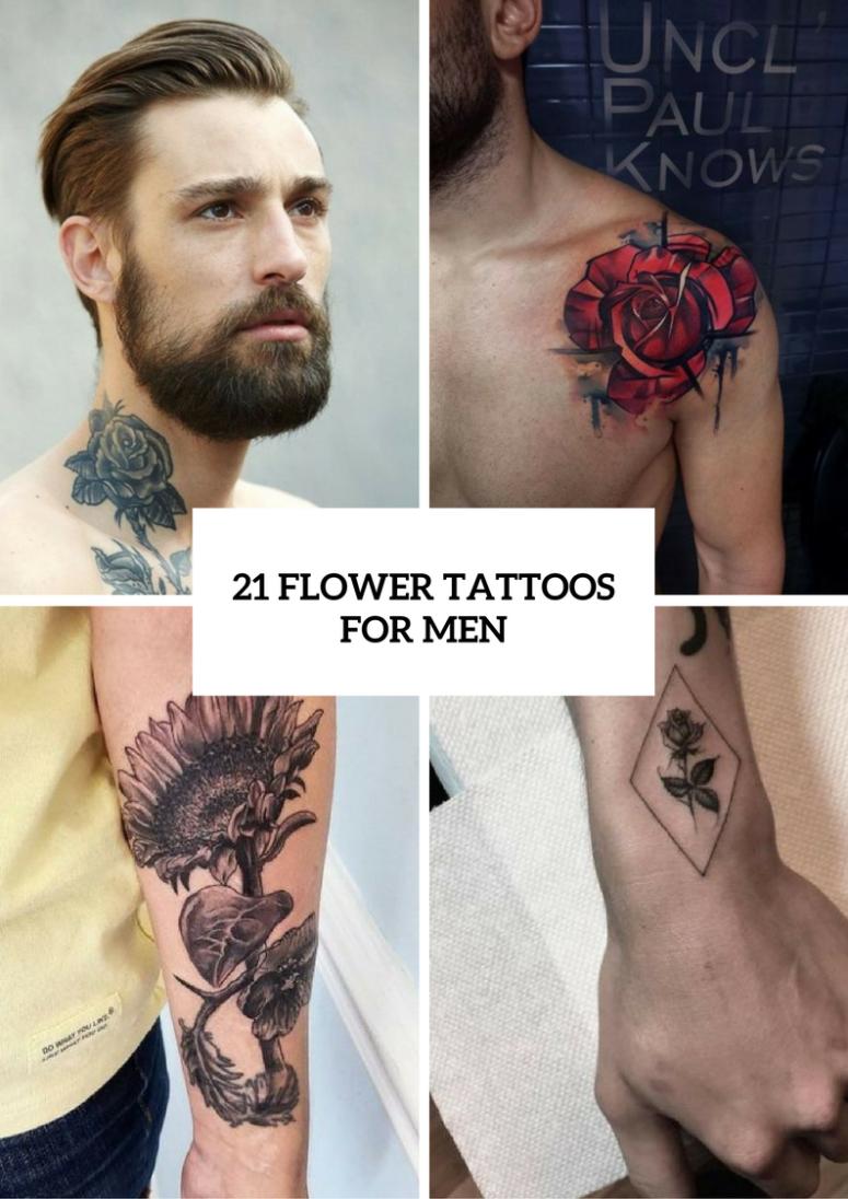 21 Excellent Flower Tattoo Ideas For Men