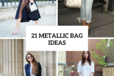 21 Stunning Outfits With Metallic Bags