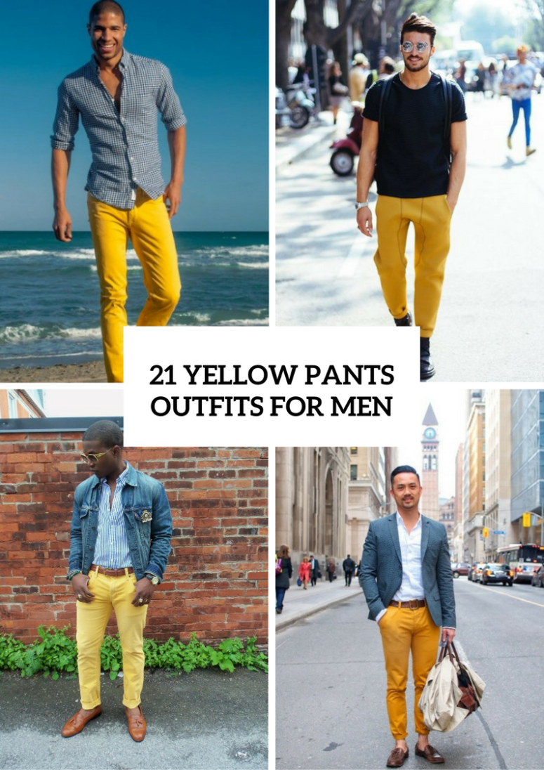 21 Stunning Yellow Pants Outfits For Men
