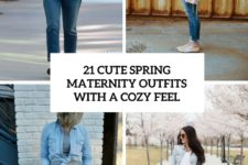 21 cute spring maternity outfits with a cozy feel cover