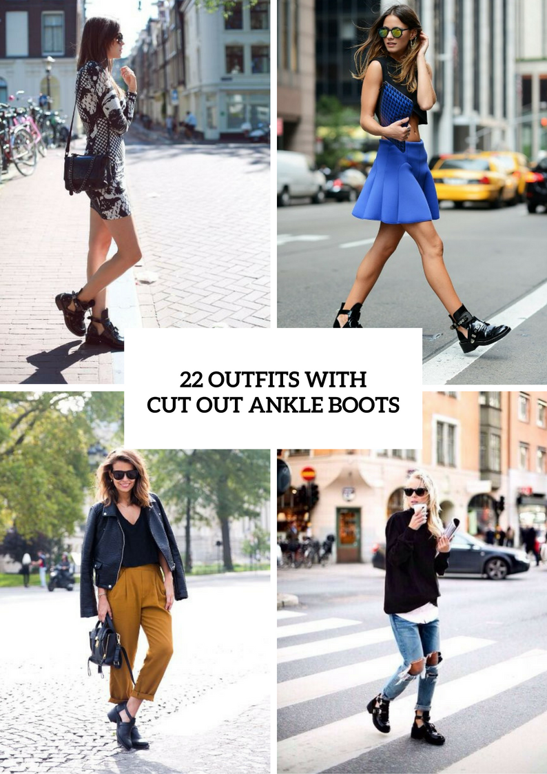 22 Adorable Outfits With Cut Out Ankle Boots