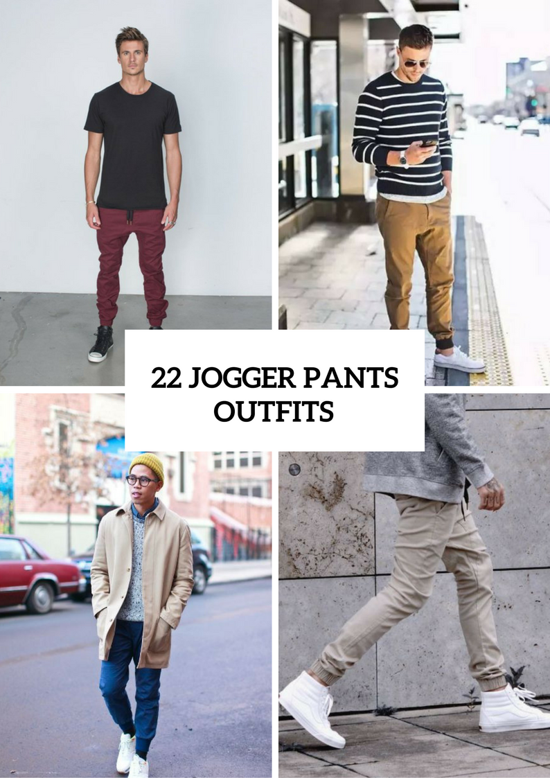 Cool Men Outfits With Jogger Pants