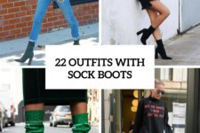 22 Stunning Outfit Ideas With Sock Boots For Fashionable Women