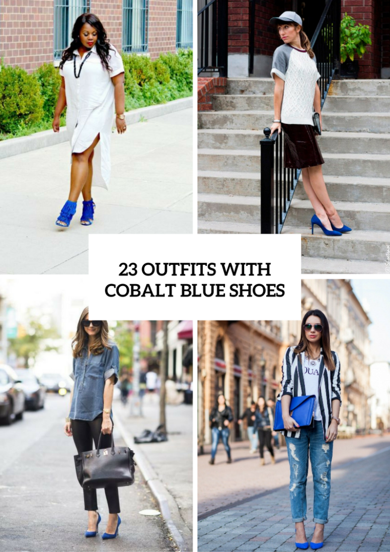 Incredible Spring Outfits With Cobalt Blue Shoes To Repeat
