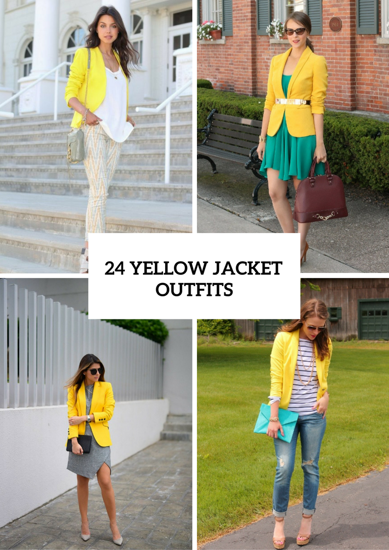 Sunny Outfits With Yellow Jackets