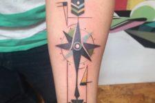 Structured arrow tattoo