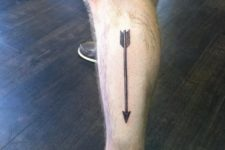 Tattoo on the leg
