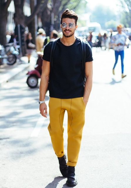 21 Stunning Yellow Pants Outfits For Men - Styleoholic