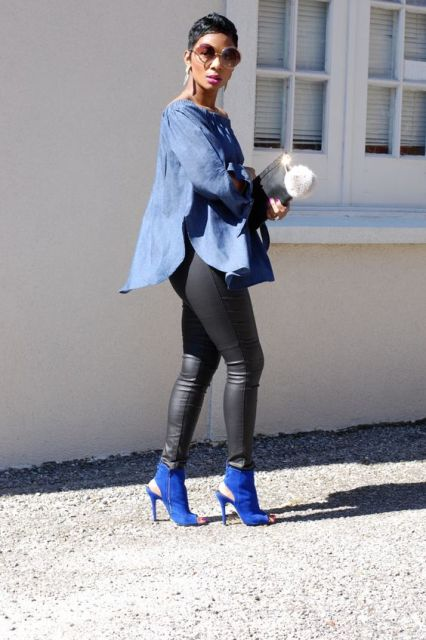 Spring Outfits With Cobalt Blue Shoes