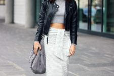 office look with a skirt