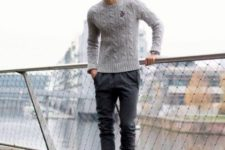 men outfit with converse sneakers