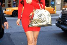 red mini dress outfit