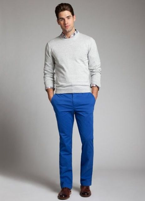 21 Men Outfits With Cobalt Blue Pants To Repeat Styleoholic
