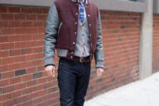 bomber jacket look