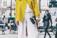 office outfit with yellow shades