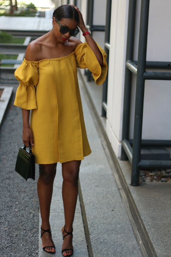 fa78d547d420 20 Girlish Off The Shoulder Dresses You Need To Try - Styleoholic