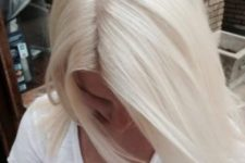 02 ideal icy blonde solid color on straight hair