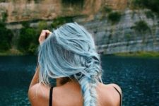02 powder blue hair looks very romantic