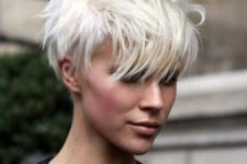 03 icy blonde pixie haircut looks very modern