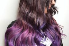 03 natural chestnut hair with purple and pink ombre