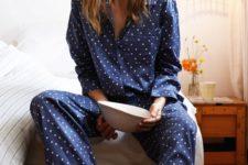 03 navy stars pajamas with pants