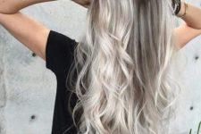 04 blonde grey and white balayage on darker hair