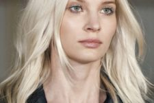 04 medium-length icy blonde hair with light waves