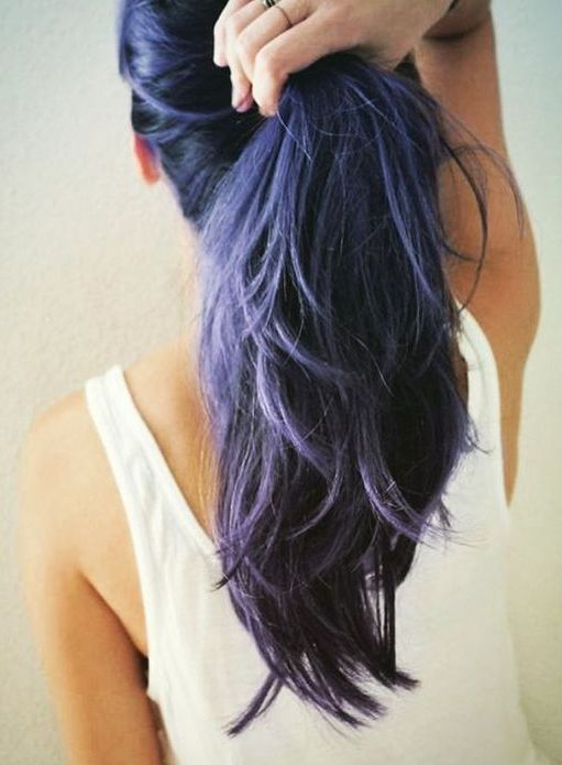 amethyst ombre hair in cold shades