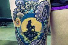 07 Ariel framed tattoo with an octopus
