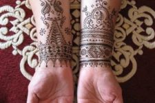 07 both wrists and arms covered with Moroccan patterns