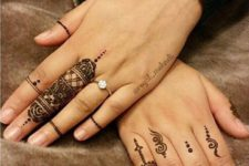 07 cute henna patterns only on fingers for a delicate look