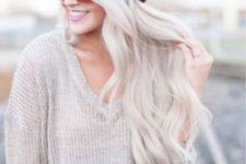 07 long wavy icy blonde hair is a great idea for summer
