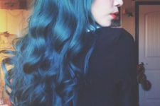 10 ombre hair from bold blue into teal looks wow