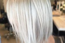 11 chic textural haircut with icy blonde color