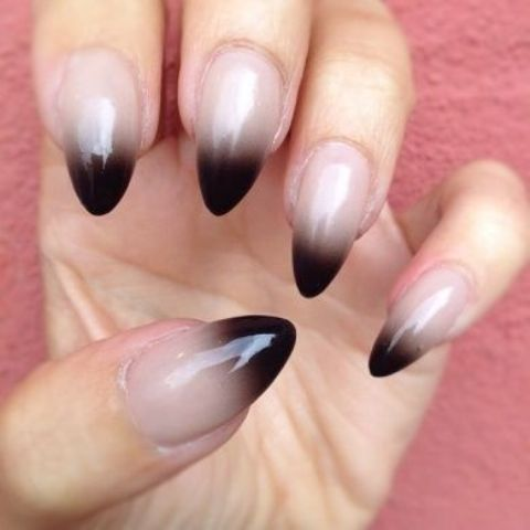black into grey and neutral creates an effect of shade