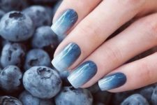 13 blueberry-inspired ombre nails into a very subtle shade