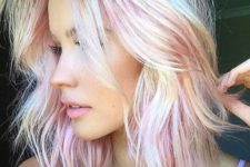 13 natural blonde with pink touches resembles pink sapphire