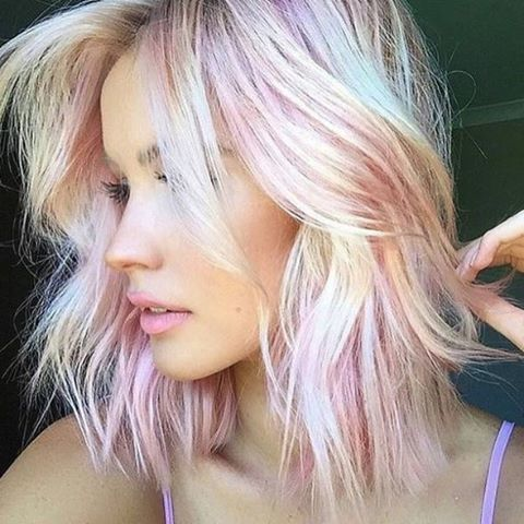 natural blonde with pink touches resembles pink sapphire