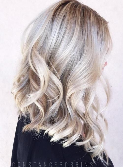icy blonde balayage on natural blonde long hair