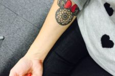 15 Minnie Mouse mandala tattoo is a unique idea