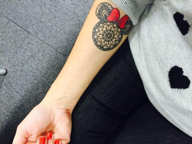Minnie Mouse mandala tattoo is a unique idea