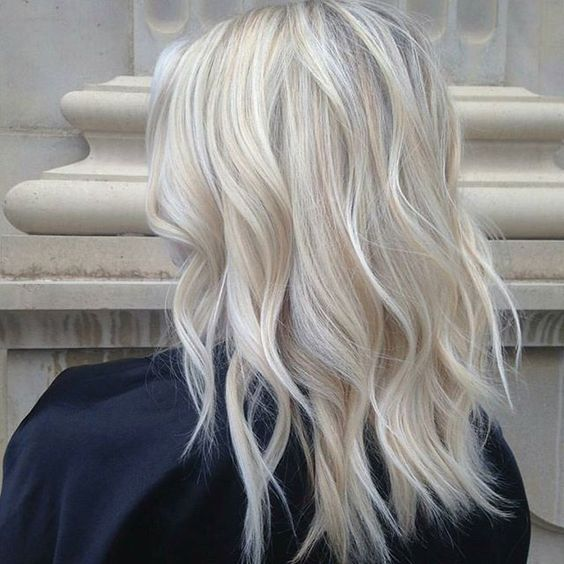 icy blonde balayage on usual blonde