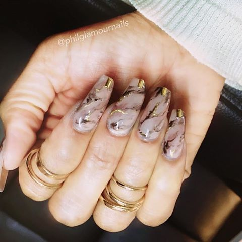 20 Fashionable Marble Nail Art Ideas To Try - Styleoholic