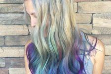 creative blonde hair idea