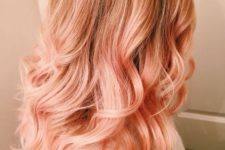 16 natural reddish hair with blorange balayage