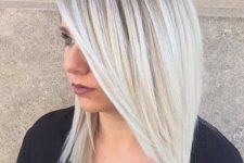 17 icy blonde ombre from darker roots