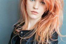 18 orange and blorange hair balayage