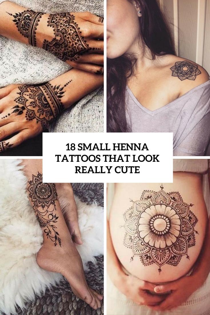 18 Small Henna Tattoos That Look Really Cute Styleoholic