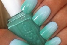 18 subtle mint into green nails for summer holidays